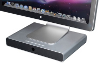 Настольная полка Just Mobile Drawer для iMac, Cinema Display и других мониторов