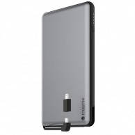 Mophie Powerstation Plus XL_12000 mAh c встроеным кабелем Micro USB и Lightning