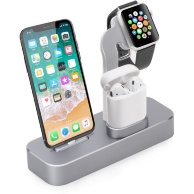 COTEetCI Base19 (CS7201-TS) для Apple Watch/iPhone/AirPods - Док-станция 3-в-1