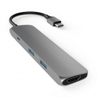 Satechi Aluminum Type-C Slim Multi-Port Adapter 4K для MacBook